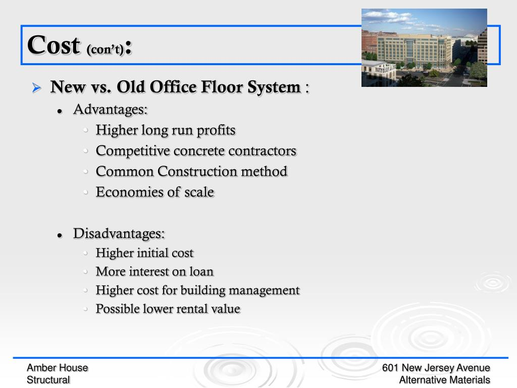 New vs. Old Office Floor System