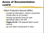areas of documentation cont d14
