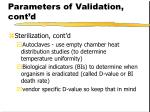 parameters of validation cont d40