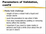 parameters of validation cont d41