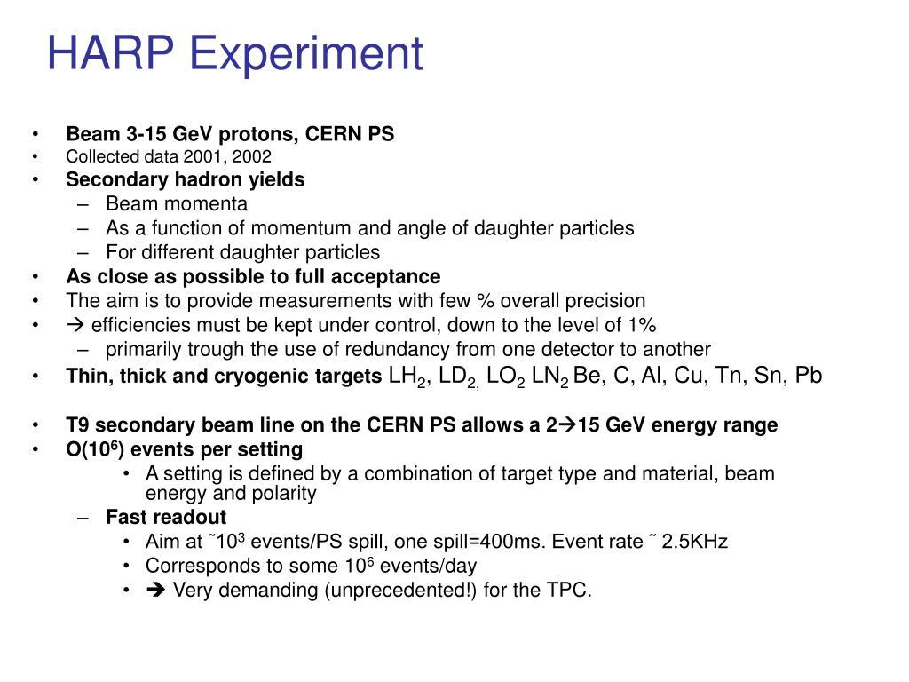 HARP Experiment