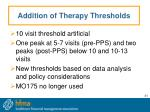 addition of therapy thresholds