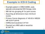 example in icd 9 coding