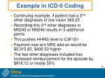 example in icd 9 coding49