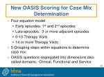new oasis scoring for case mix determination