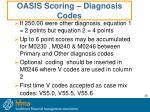 oasis scoring diagnosis codes