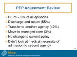 pep adjustment review