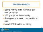 the new hhrgs