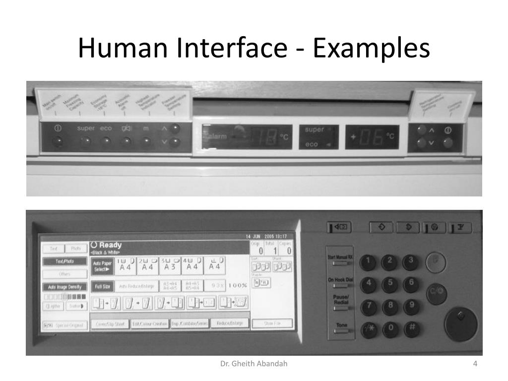 Human Interface - Examples