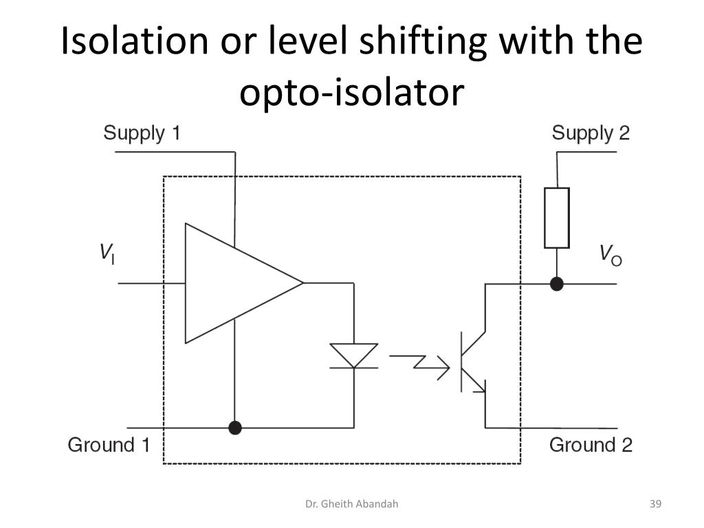 Isolation or level shifting with the opto-isolator