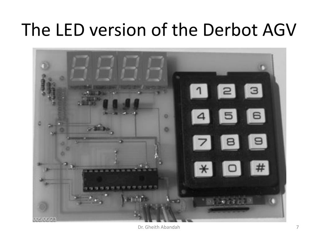 The LED version of the Derbot AGV