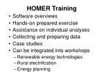 homer training