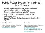 hybrid power system for maldives post tsunami