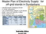 master plan of electricity supply for off grid islands in sundarbans