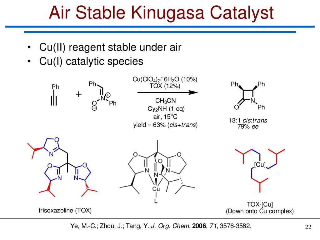 Air Stable Kinugasa Catalyst