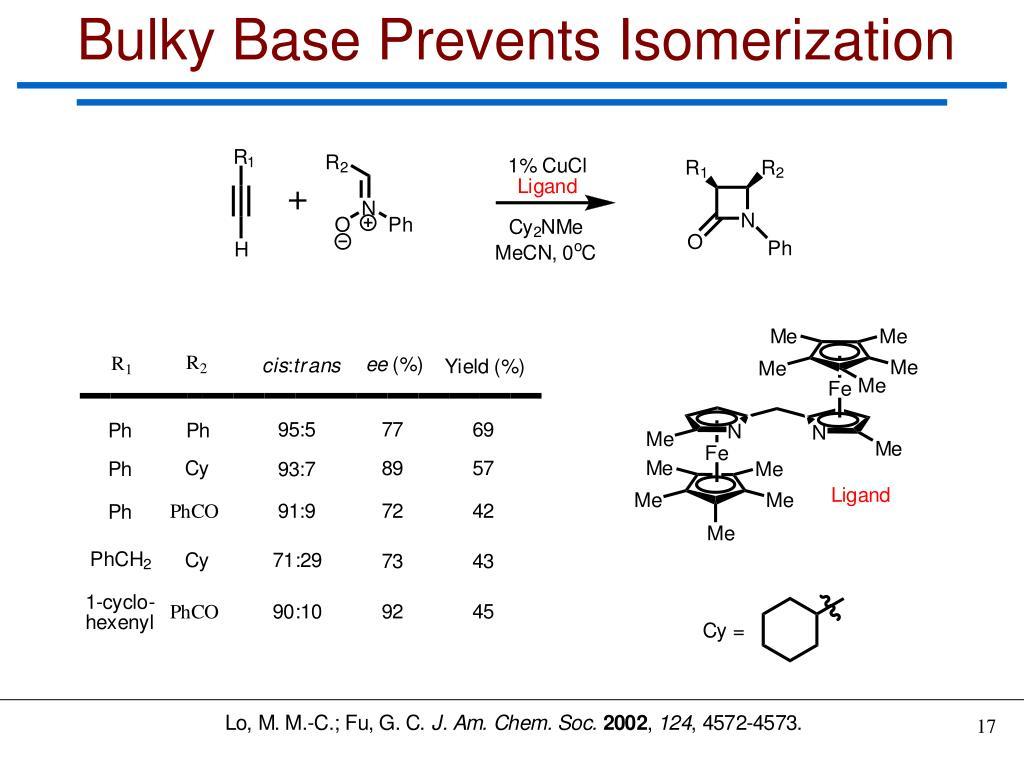 Bulky Base Prevents Isomerization