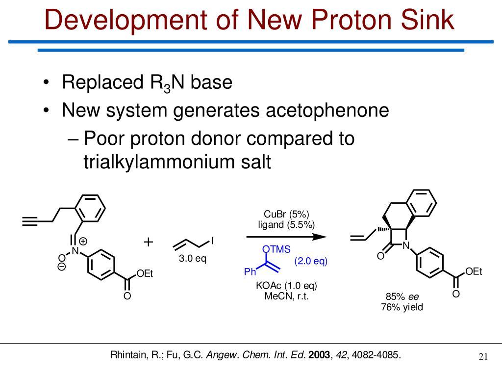 Development of New Proton Sink