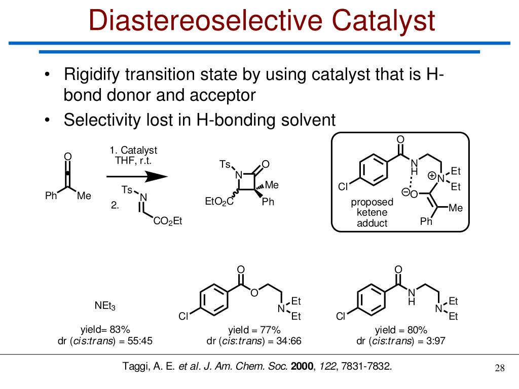 Diastereoselective Catalyst