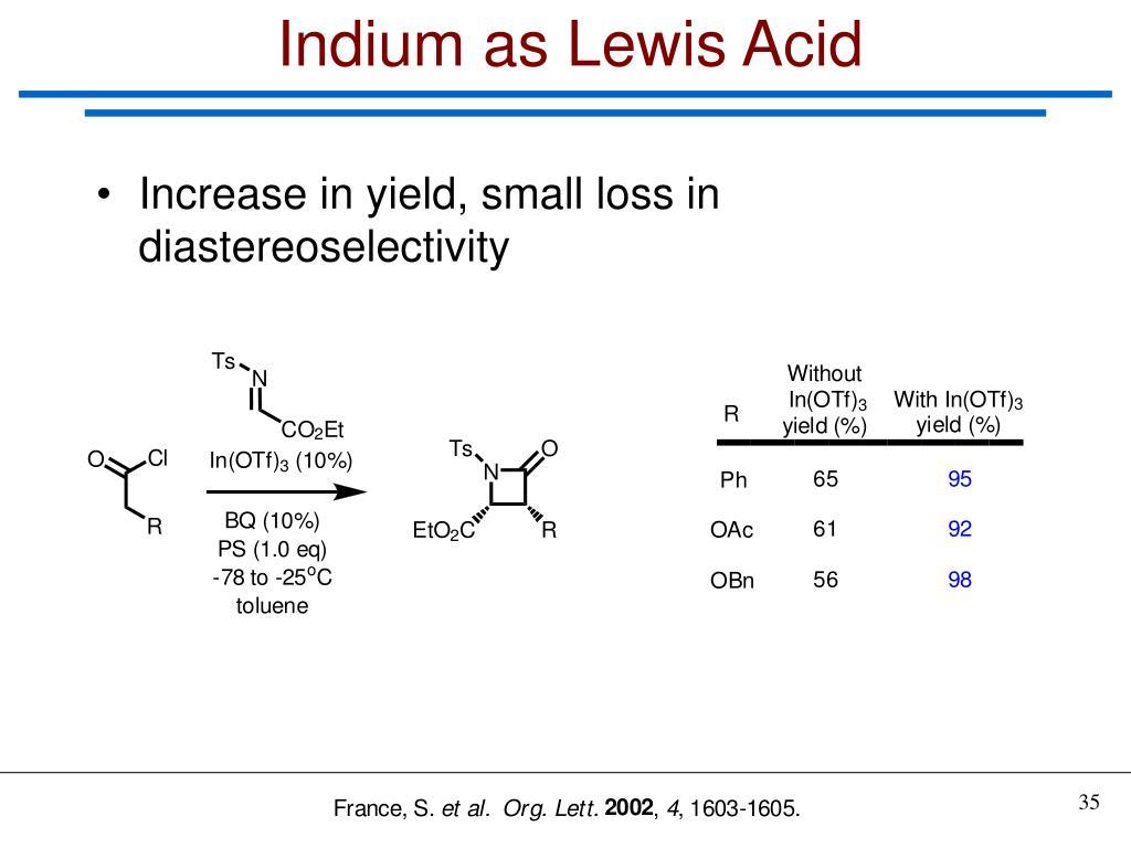 Indium as Lewis Acid
