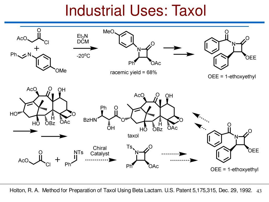 Industrial Uses: Taxol