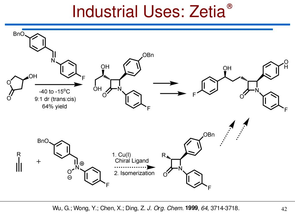 Industrial Uses: Zetia
