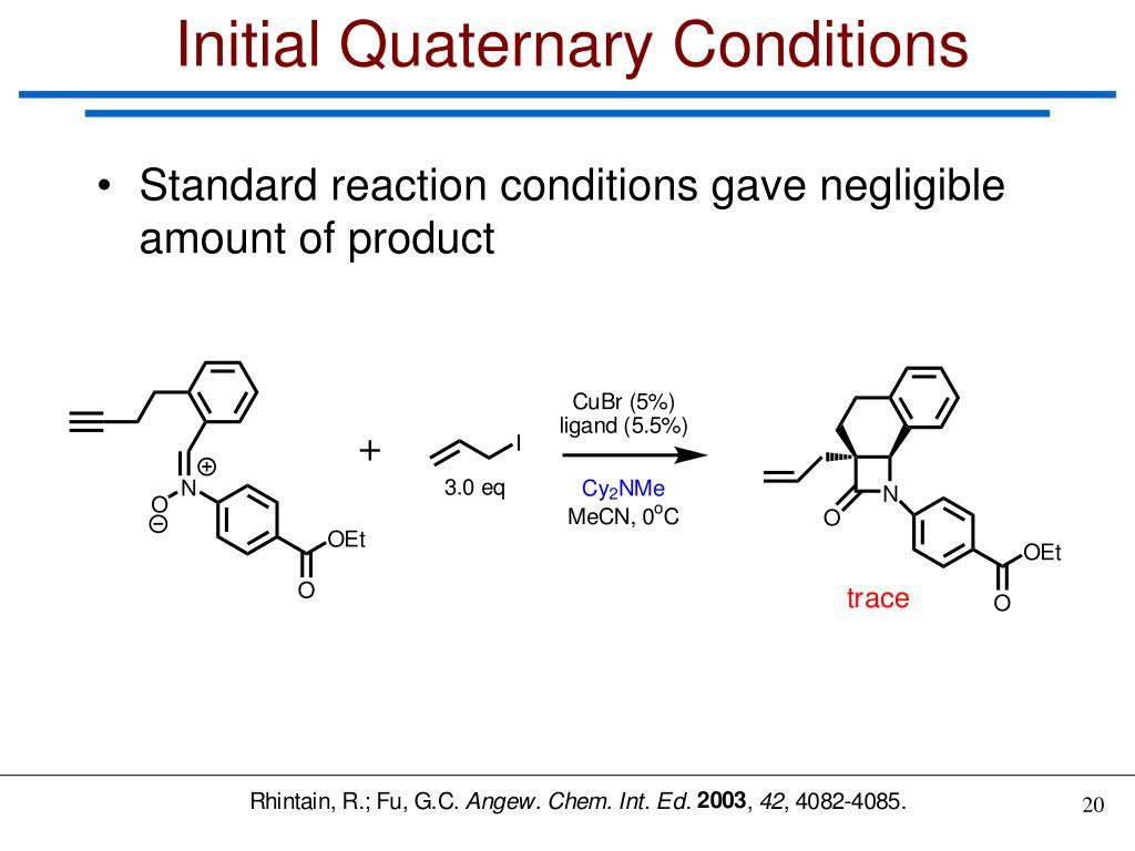 Initial Quaternary Conditions