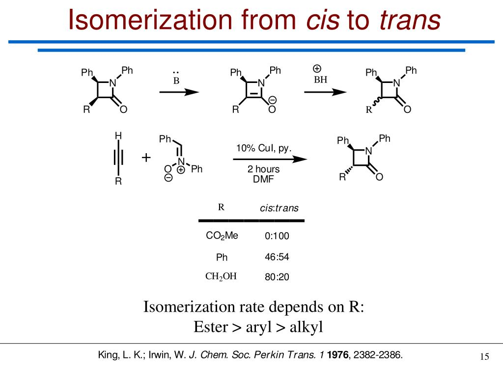 Isomerization from