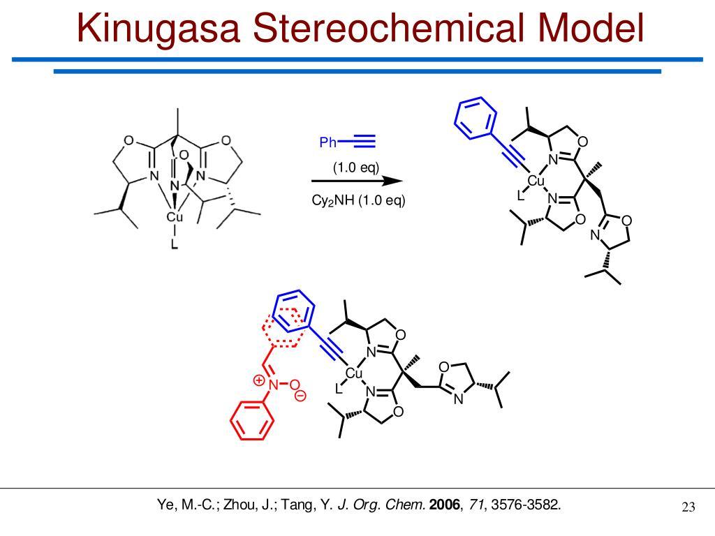 Kinugasa Stereochemical Model