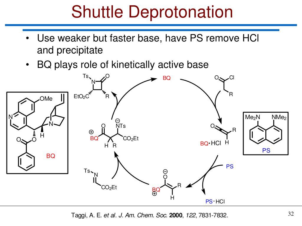 Shuttle Deprotonation