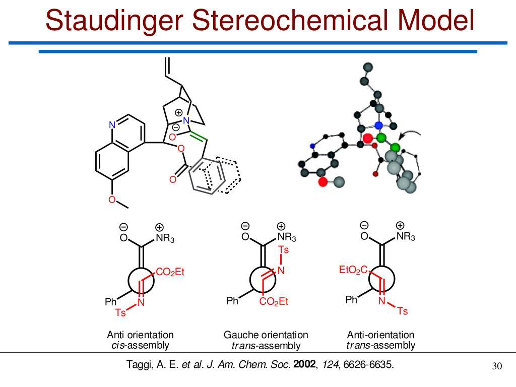 Staudinger Stereochemical Model