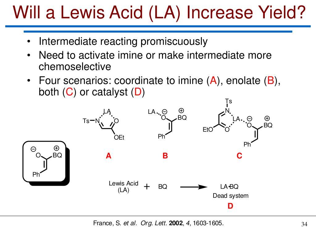 Will a Lewis Acid (LA) Increase Yield?