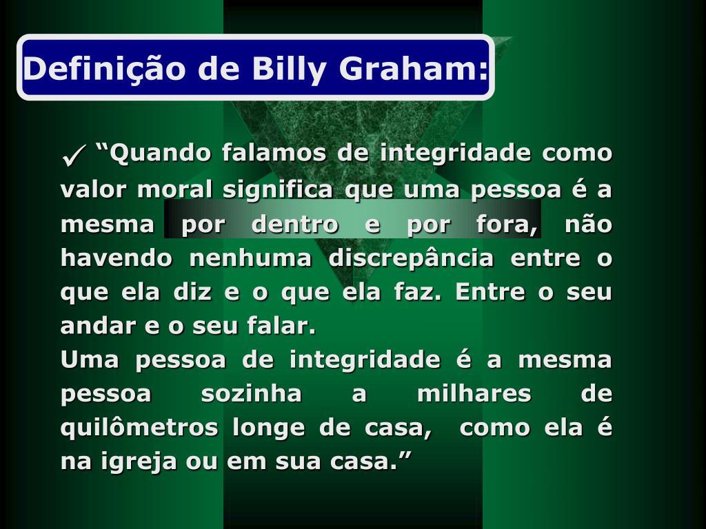 Definição de Billy Graham:
