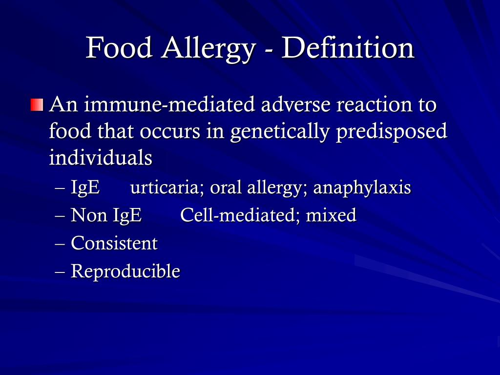 Food Allergy - Definition