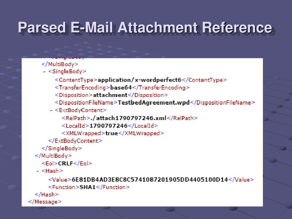 Parsed E-Mail Attachment Reference