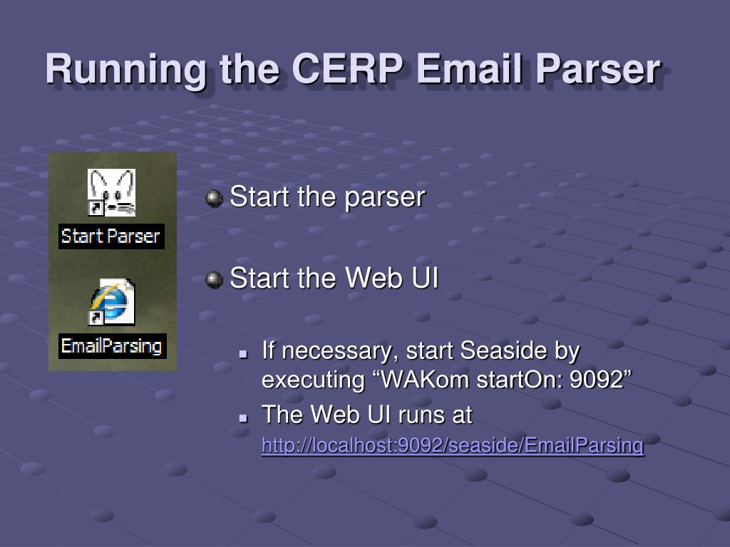 Running the CERP Email Parser