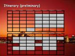 itinerary preliminary