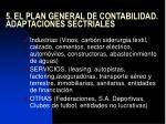 5 el plan general de contabilidad adaptaciones sectriales