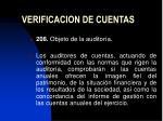 verificacion de cuentas