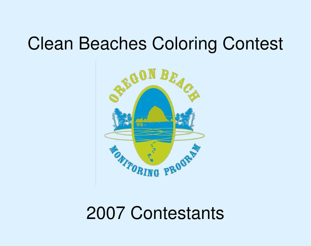 clean beaches coloring contest l.