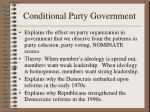 conditional party government