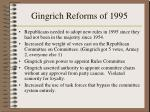 gingrich reforms of 1995