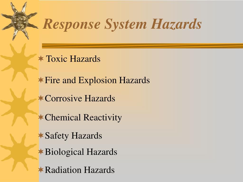 Response System Hazards