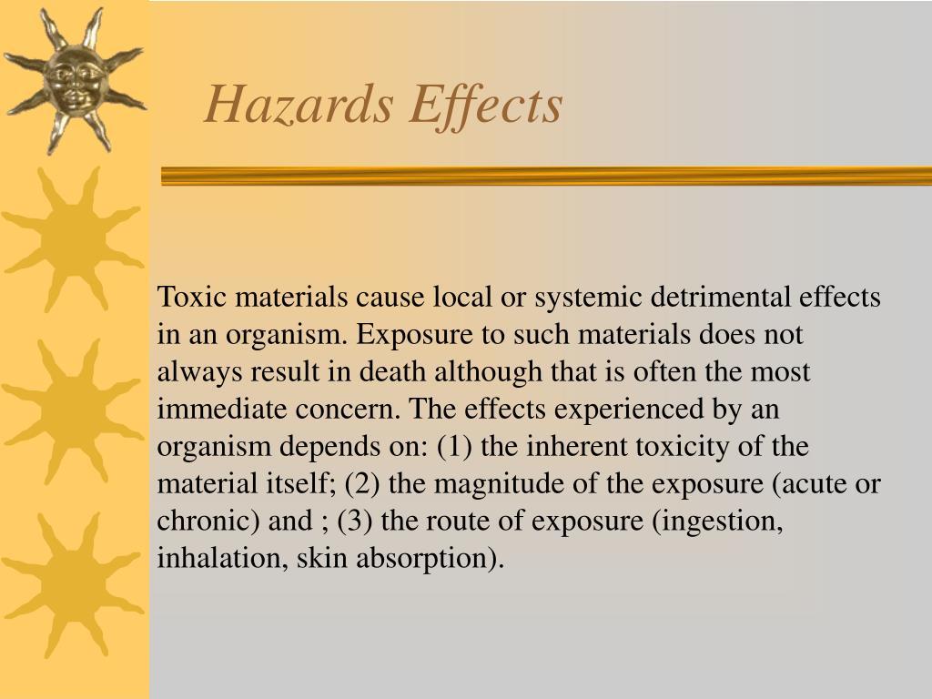 Hazards Effects