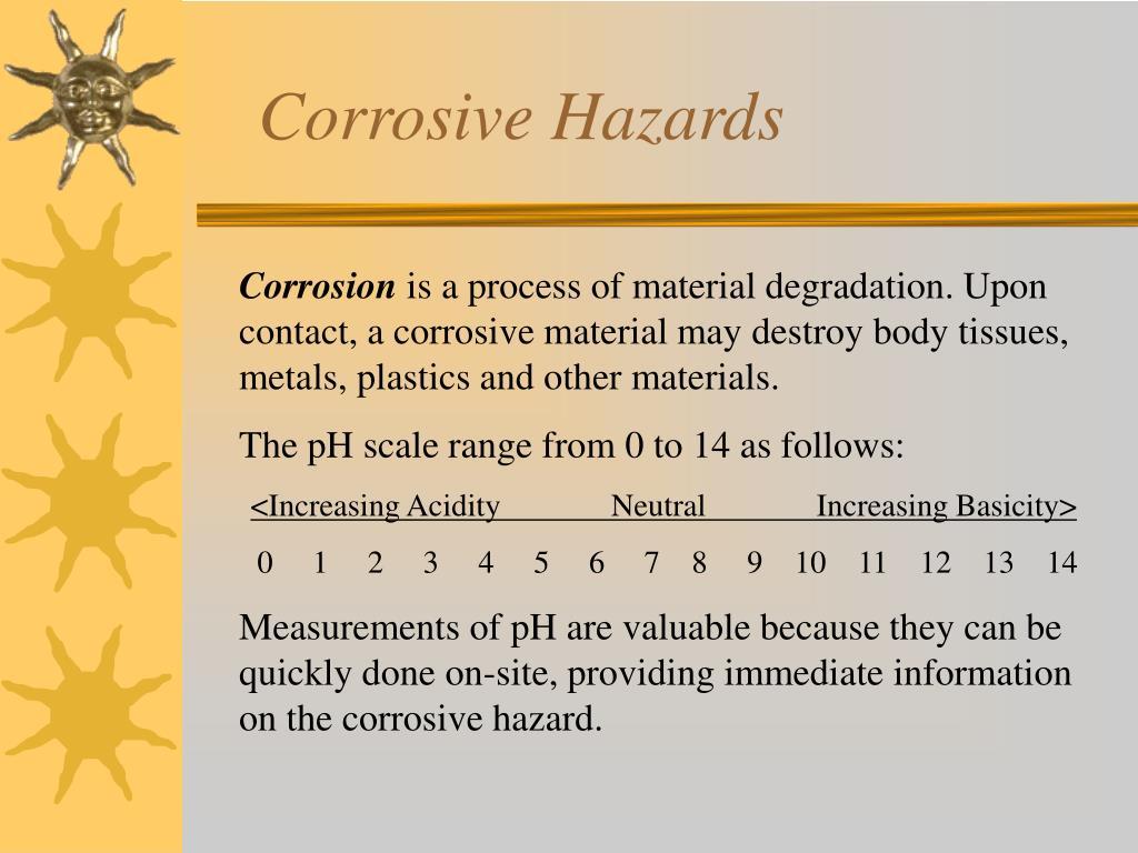 Corrosive Hazards