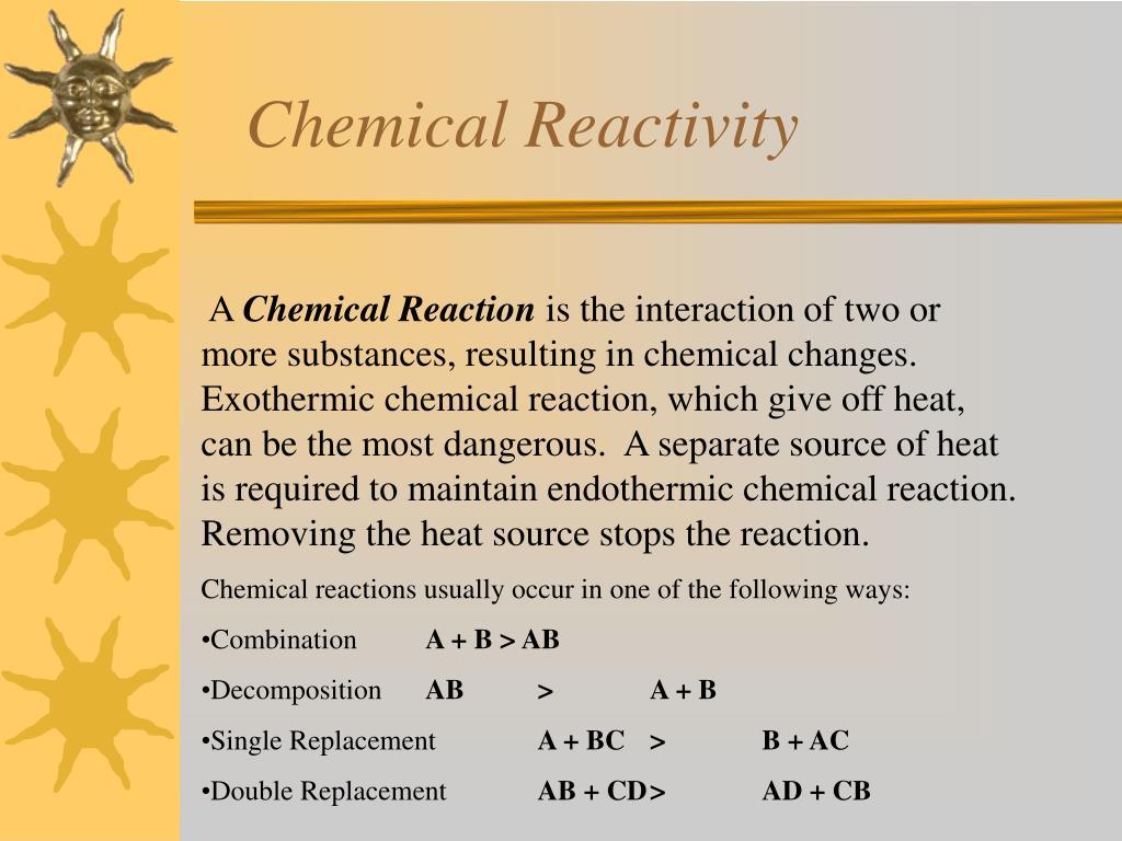 Chemical Reactivity