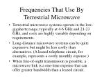 frequencies that use by terrestrial microwave13