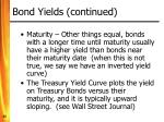 bond yields continued22