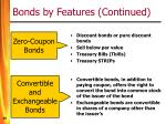 bonds by features continued