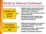 bonds by features continued50