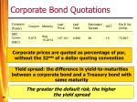 corporate bond quotations